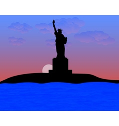 The statue of liberty vector