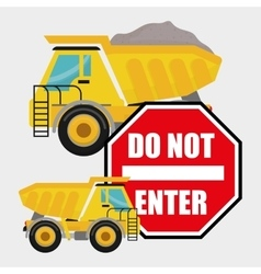 Construction design truck icon repair concept vector