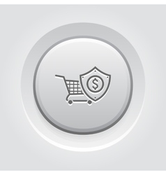 Safe shopping icon vector