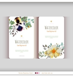 Abstract watercolor cards Watercolor flowers vector image vector image