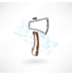 axe grunge icon vector image