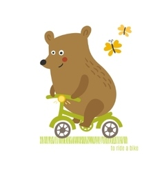 Bear to ride a bike vector