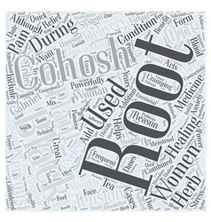 Black cohosh word cloud concept vector