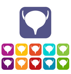 bladder icons set vector image vector image