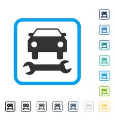 Car repair framed icon vector