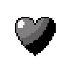 Contour heart love and life symbol design vector