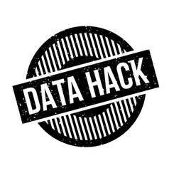 Data hack rubber stamp vector
