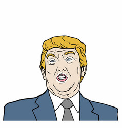 Donald trump 45th president of usa design vector