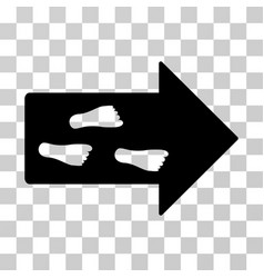 Exit direction icon vector