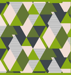 fresh green triangle geometric pattern vector image