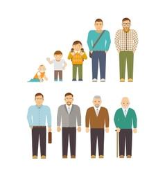 Generation Men Flat vector image