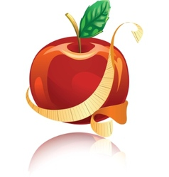 glossy red apple vector image