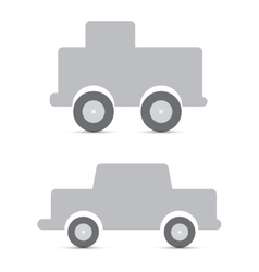 gray toy cars vector image vector image