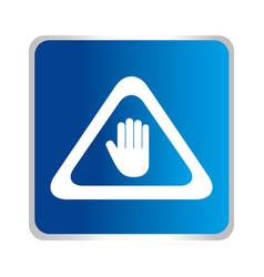 Hand stop symbol icon vector