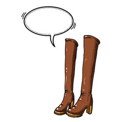 high boots-100 vector image