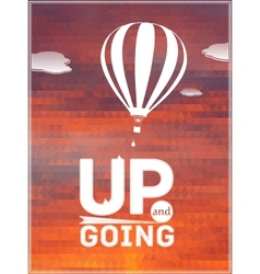 hot air balloon in the sky typographic poster vector image