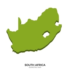 Isometric map of South Africa detailed vector image vector image