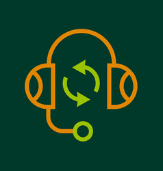 Listening icon outline style vector