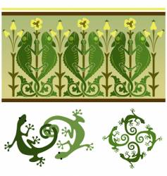 lizards vector image vector image