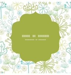 Mysterious green garden circle frame vector