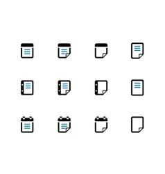 Notepad and sticky note duotone icon set vector image vector image