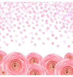 Pink Rose With Confetti vector image