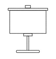 portable whiteboard symbol vector image