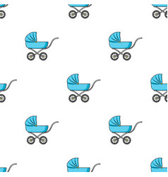 Pram icon in cartoon style isolated on white vector