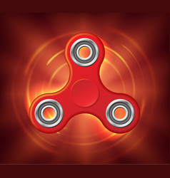 realistic rotating red spinner stylized in a fire vector image