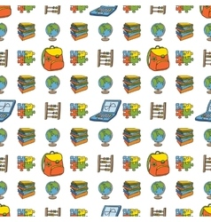 School doodle seamless pattern vector image vector image