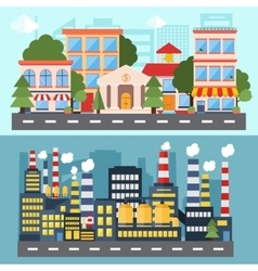 Set of urban color icons for your design vector image