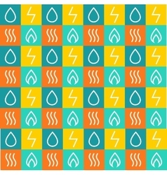 Set pattern for energy companies energy vector image vector image