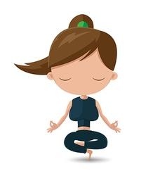 Women Yoga Health Exercise Cartoon vector image