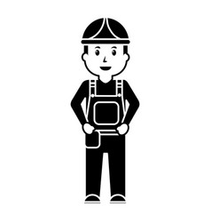 worker man construction standing character vector image