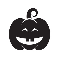 Halloween black pumpkin icon vector