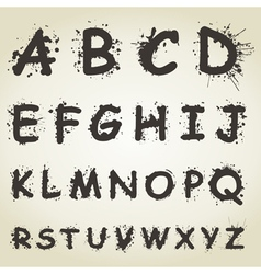 Blot alphabet fonts vector