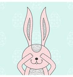 Funny bunny hidden rabbit head happy easter vector