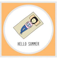 happy summer girl1 vector image