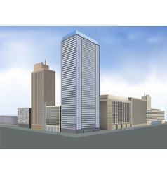 Residential city vector