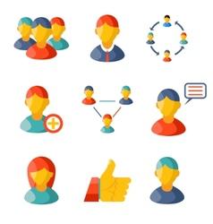 Flat communication business information media web vector