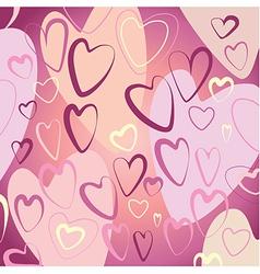 Pink hearts vector