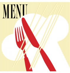 Menu card pasta vector