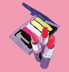 make up cosmetics vector image