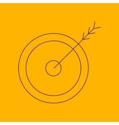Arrow target line icon vector