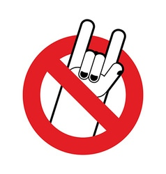 Stop rock ban for lovers of rock music red vector