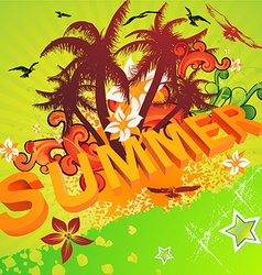 Bright summer design vector