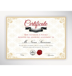 Certificate of achievement template design vector