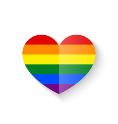 Rainbow heart icon vector