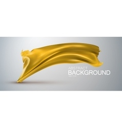 Yellow silk fabric vector