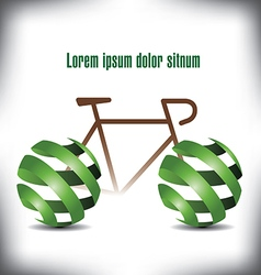 Bicycle green peel vector